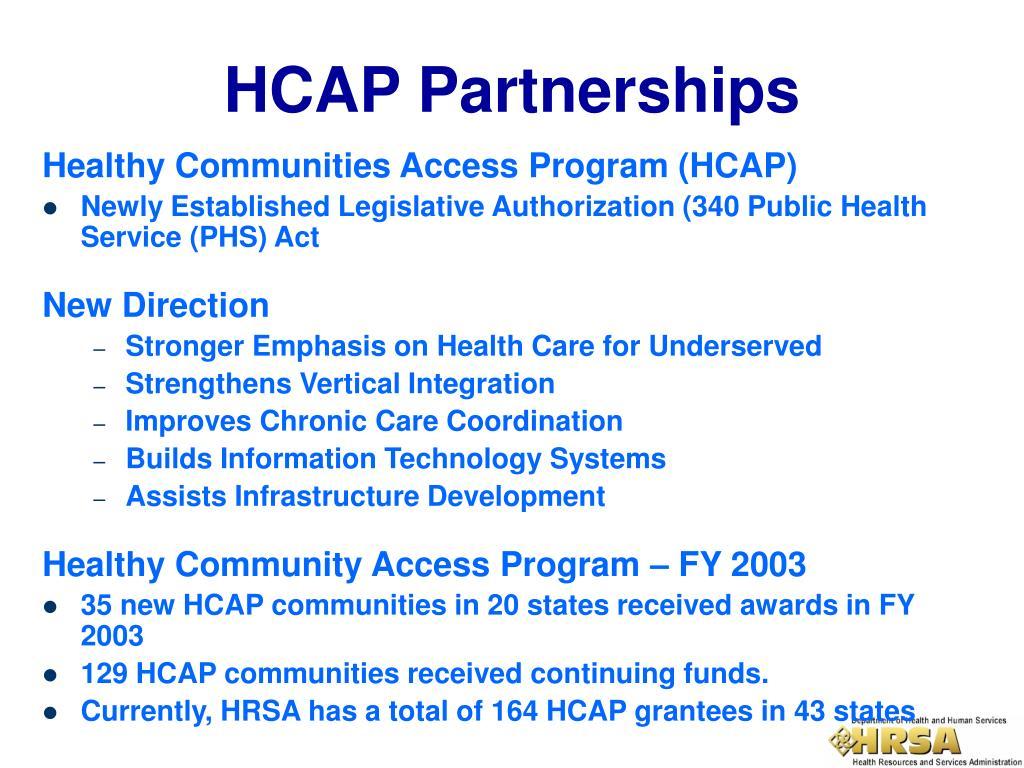 Healthy Communities Access Program (HCAP)