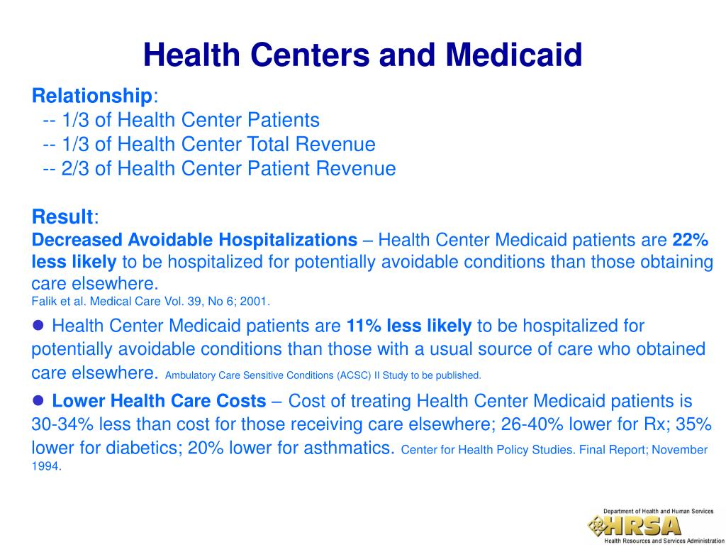 Health Centers and Medicaid
