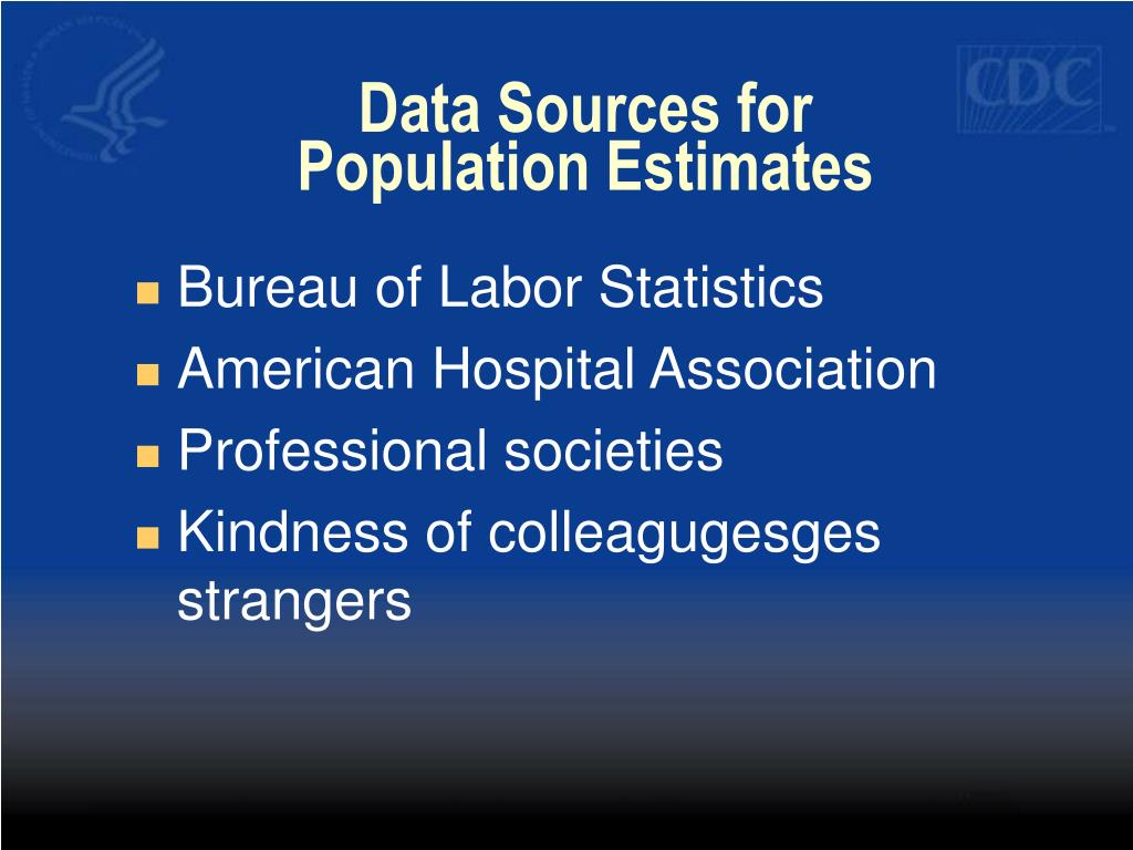 Data Sources for Population Estimates