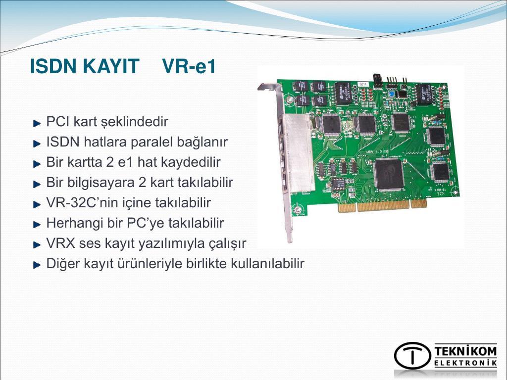 ISDN KAYIT    VR-e1