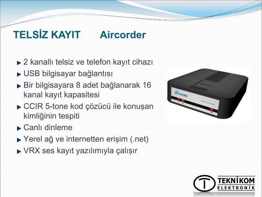TELSİZ KAYIT       Aircorder