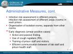 administrative measures cont
