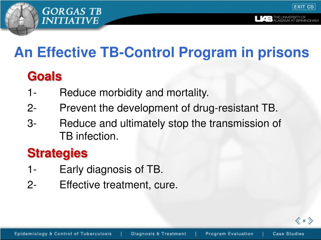 An Effective TB-Control Program in prisons