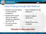 case finding through self referral