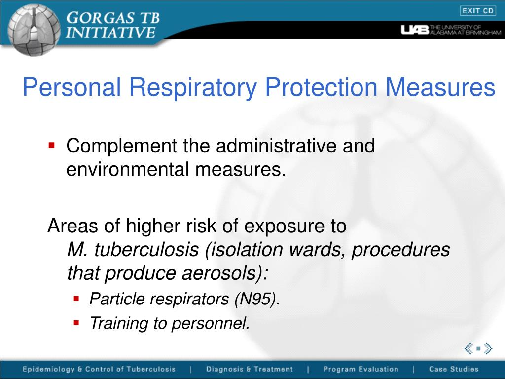 Personal Respiratory Protection Measures