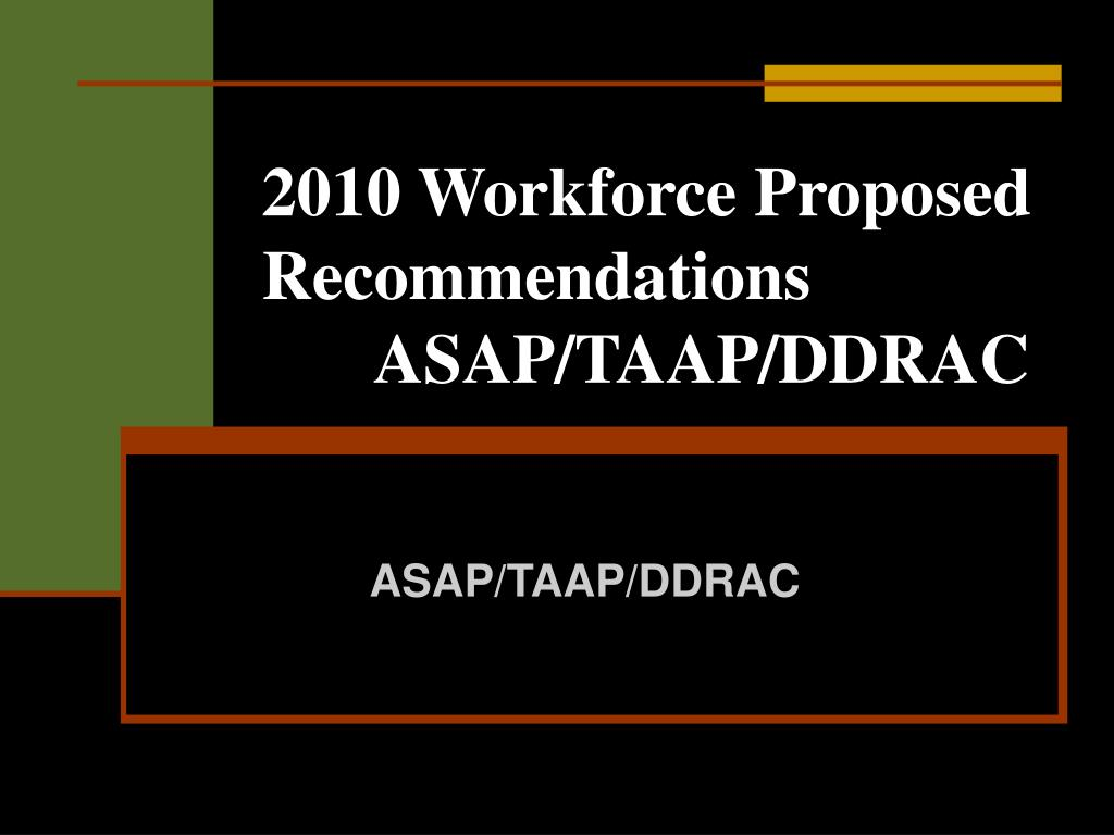 2010 Workforce Proposed Recommendations