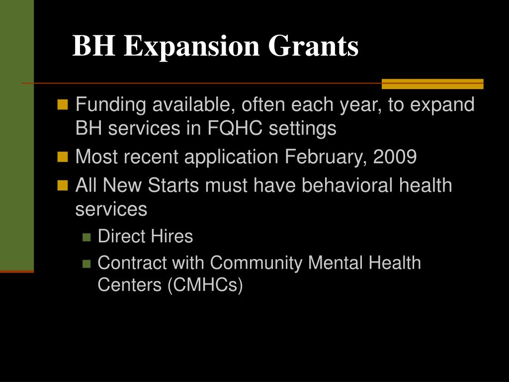 BH Expansion Grants