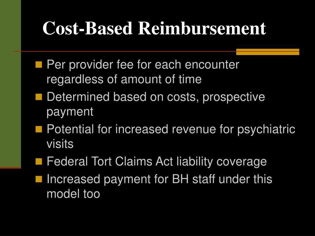 Cost-Based Reimbursement