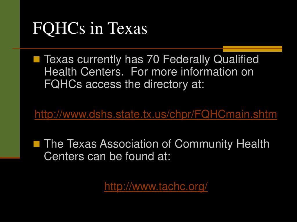 FQHCs in Texas