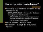 how are providers reimbursed