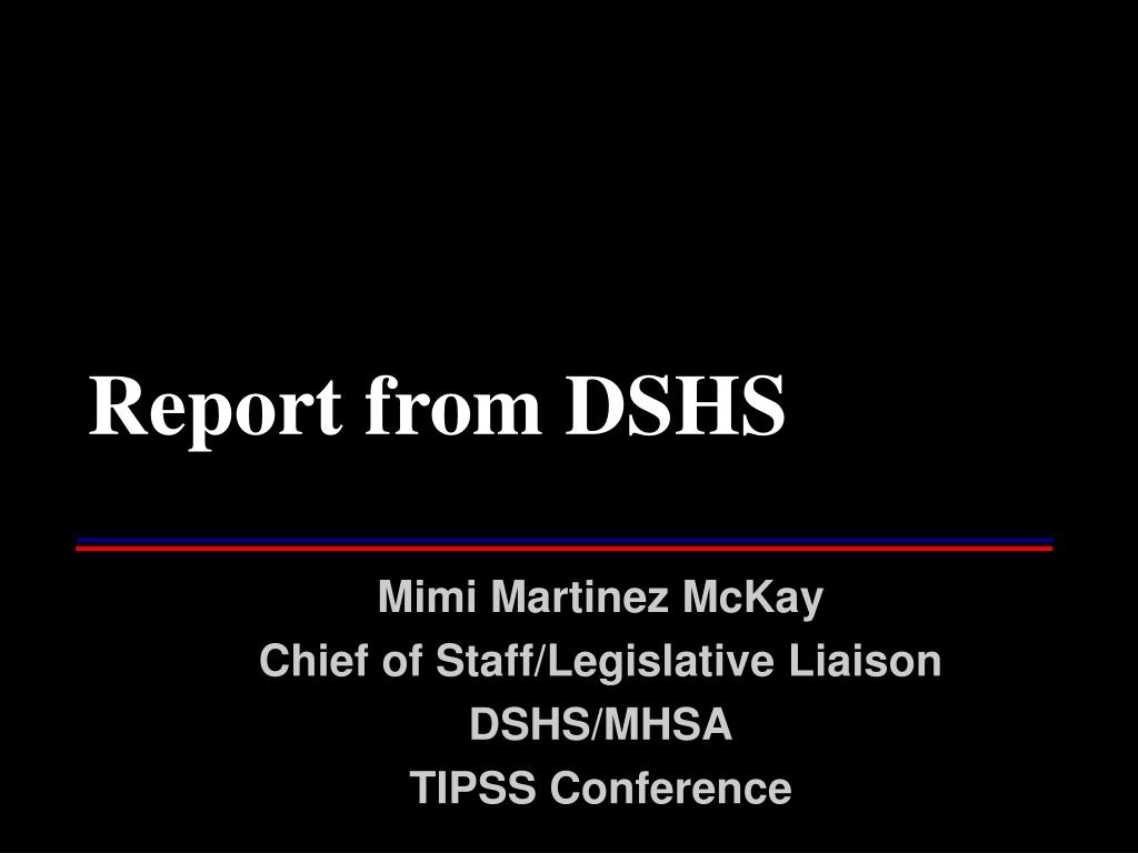 report from dshs