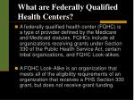 what are federally qualified health centers