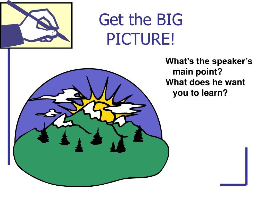 Get the BIG PICTURE!