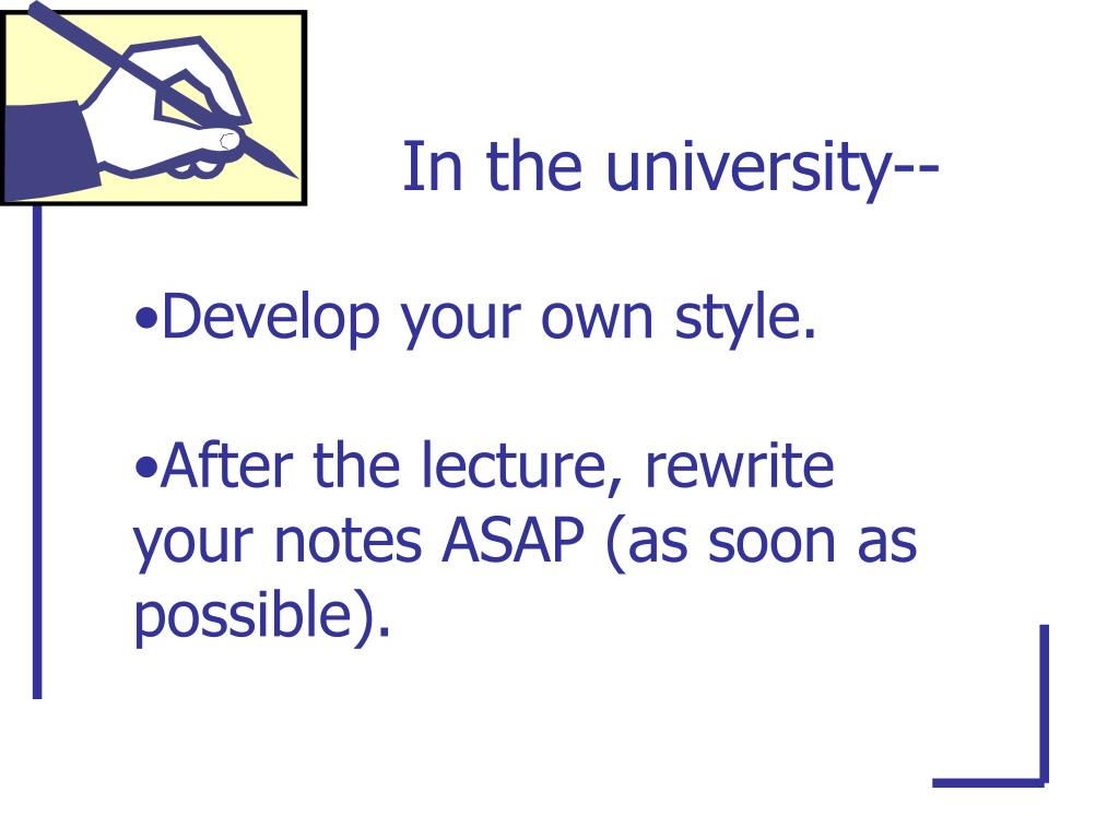 In the university--