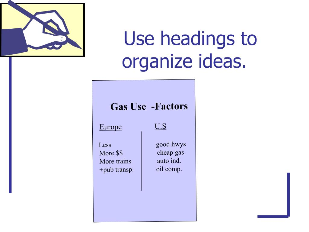 Use headings to