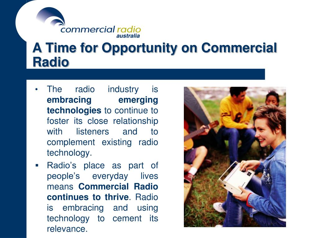 A Time for Opportunity on Commercial Radio