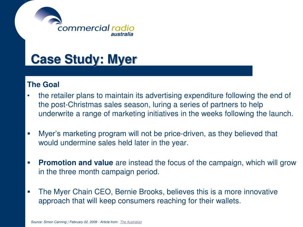 Case Study: Myer