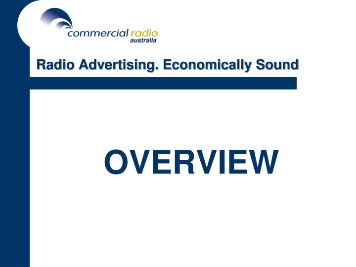 Radio advertising economically sound3 l.jpg