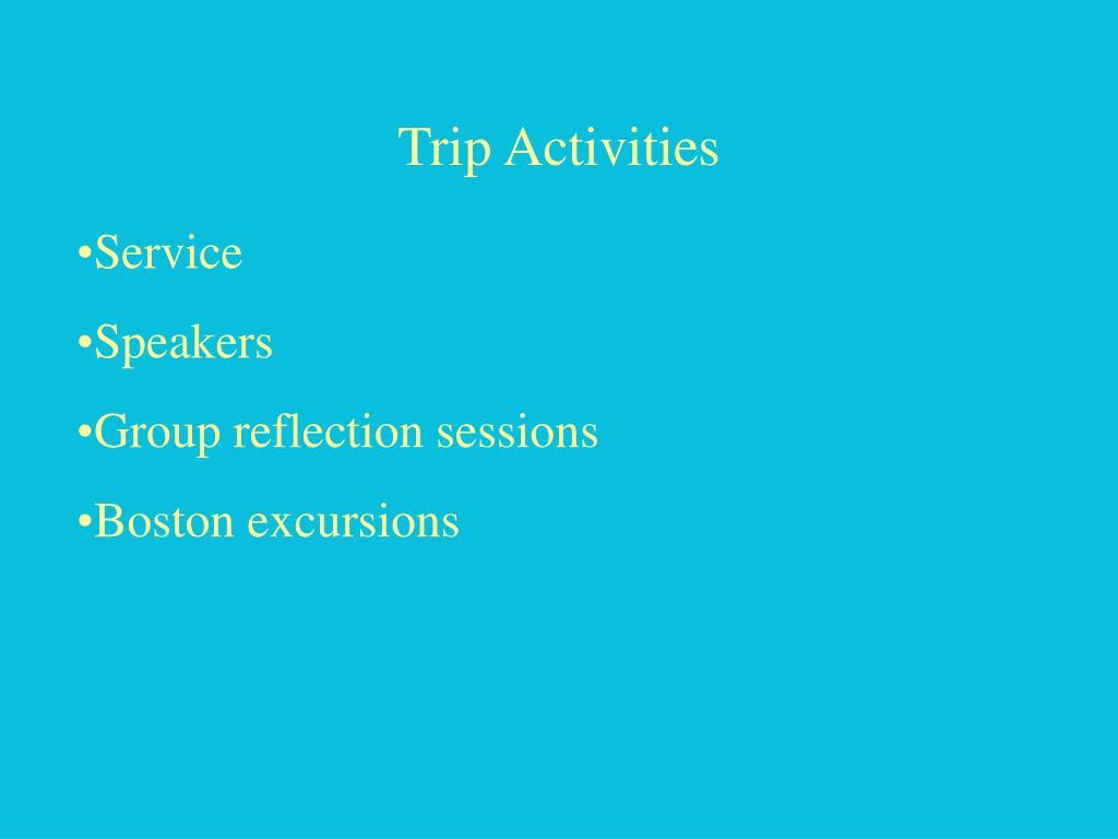 Trip Activities