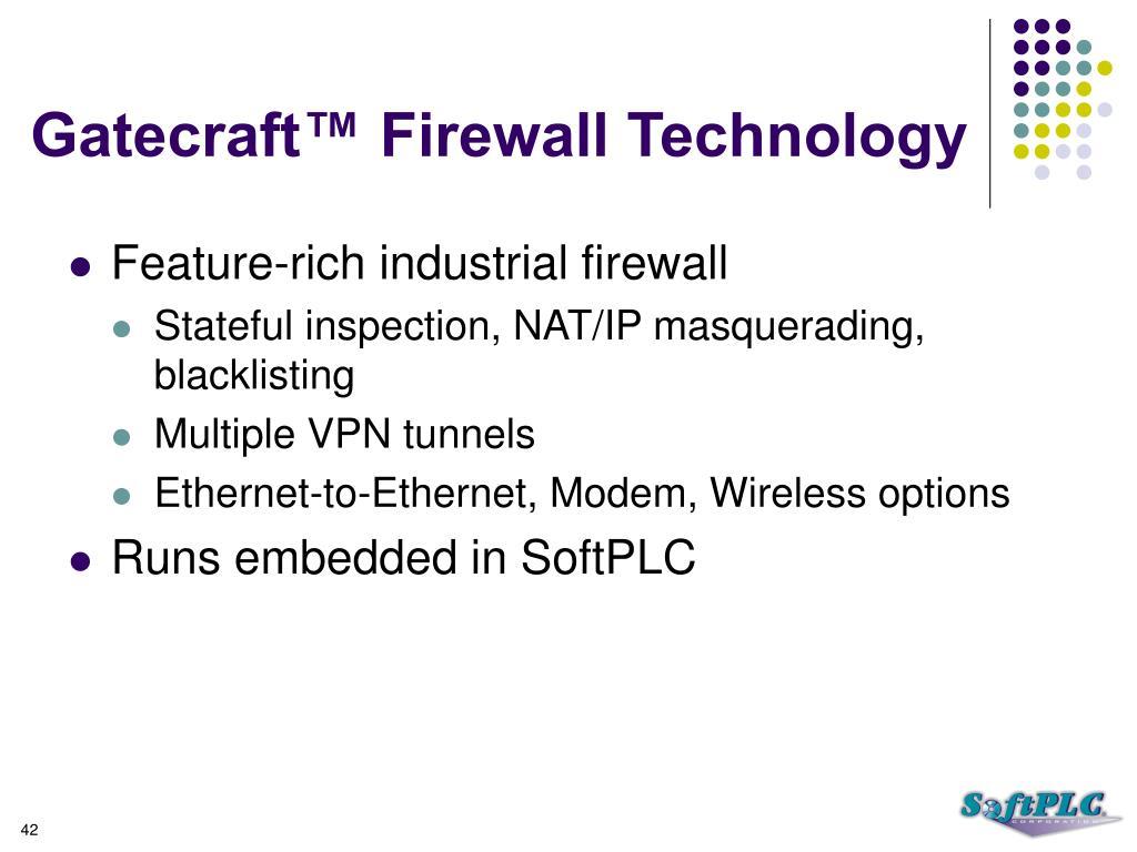 Gatecraft™ Firewall Technology