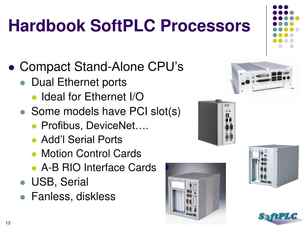 Hardbook SoftPLC Processors