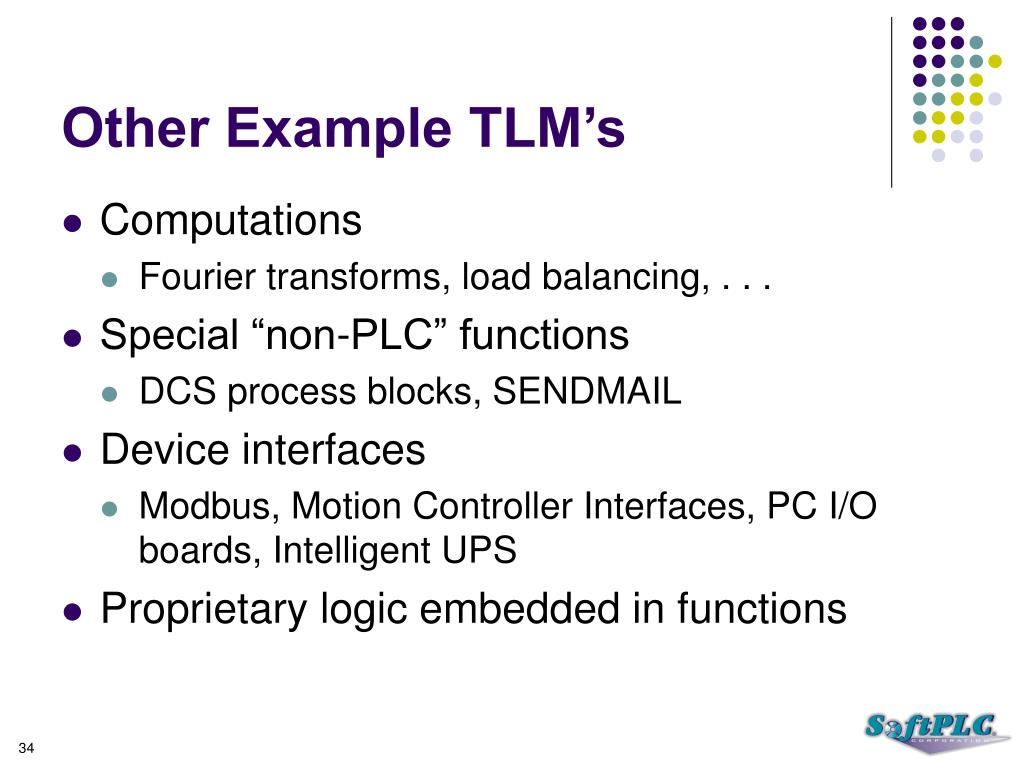 Other Example TLM's