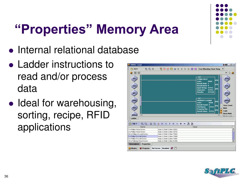 """Properties"" Memory Area"