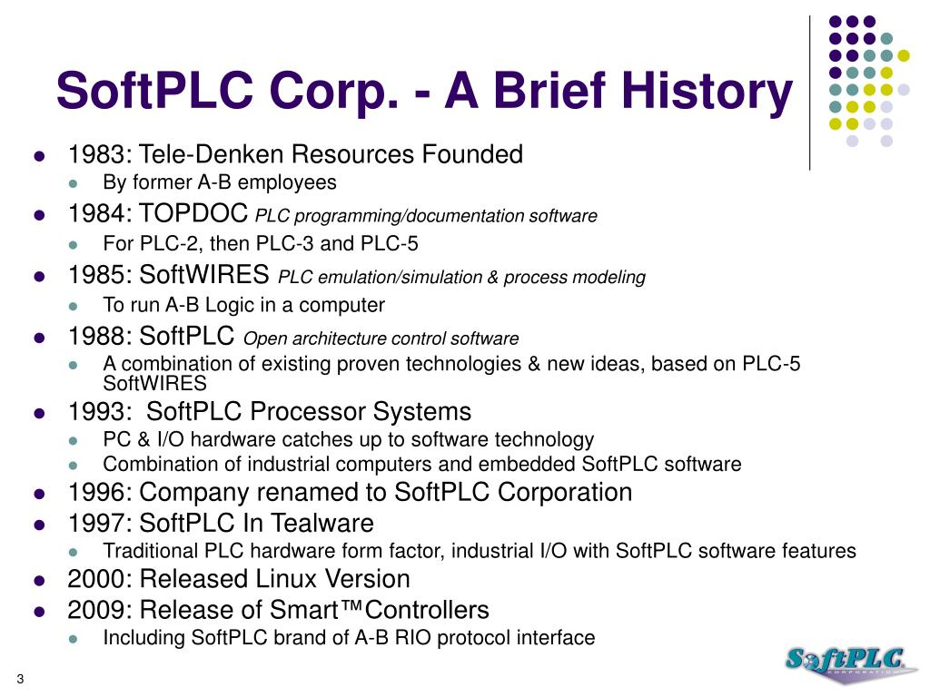 SoftPLC Corp. - A Brief History
