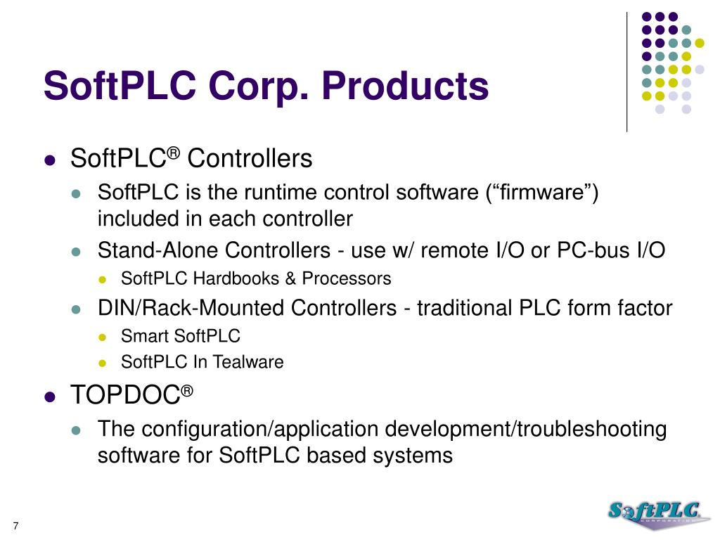 SoftPLC Corp. Products
