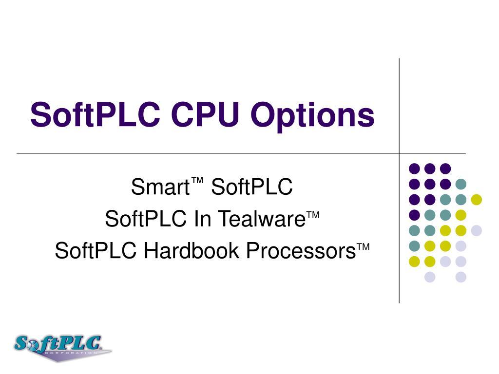 SoftPLC CPU Options