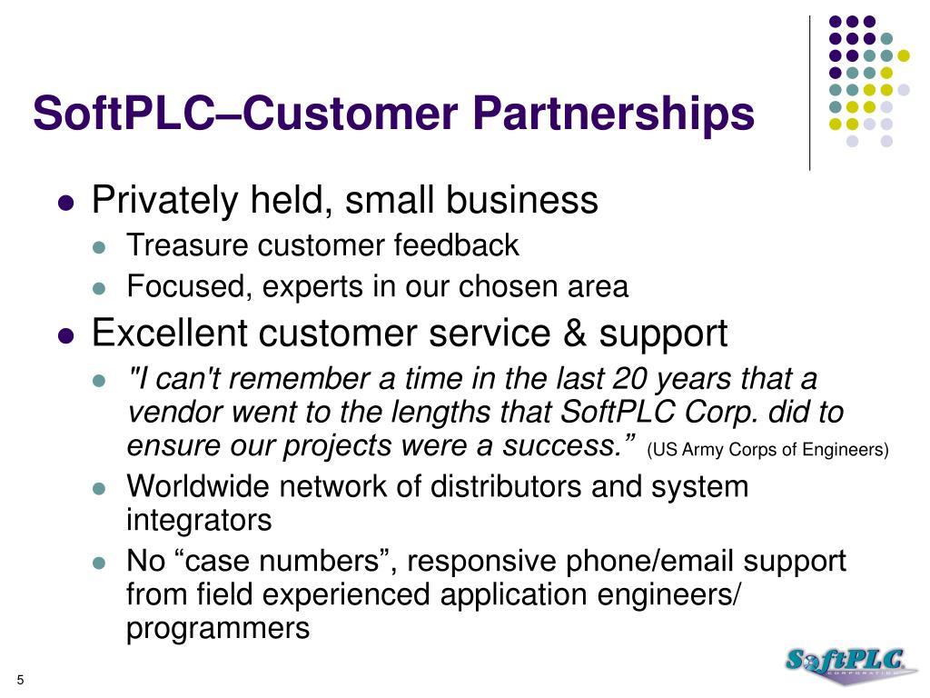 SoftPLC–Customer Partnerships