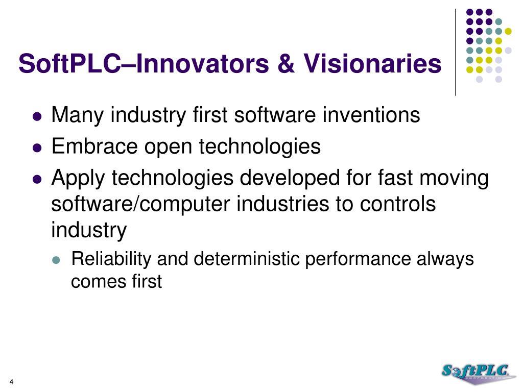 SoftPLC–Innovators & Visionaries
