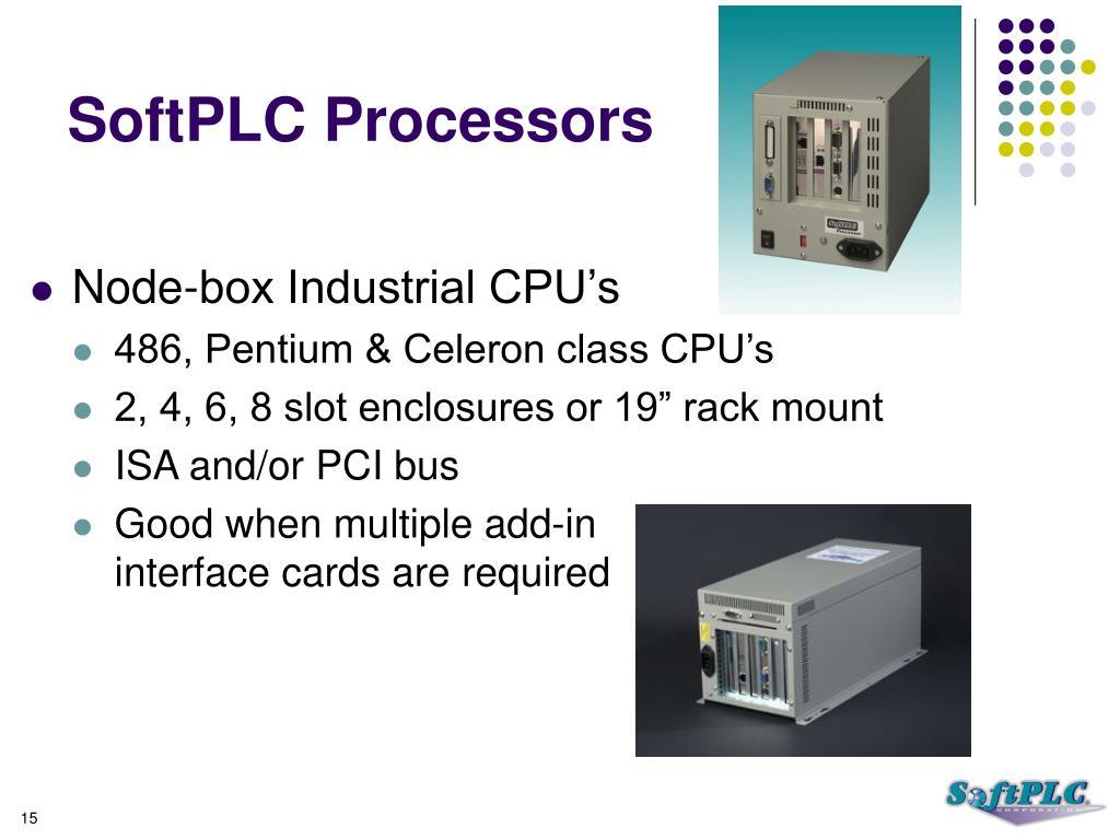 SoftPLC Processors