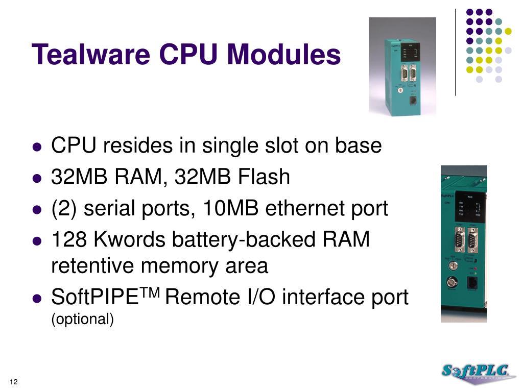 Tealware CPU Modules