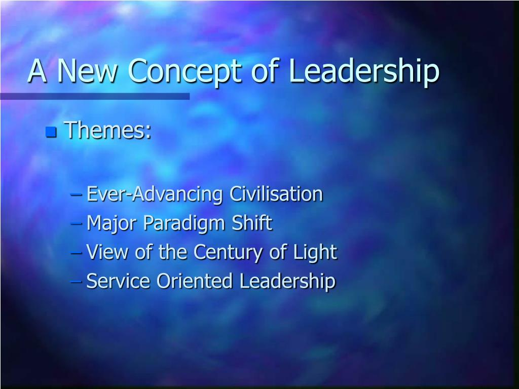 A New Concept of Leadership
