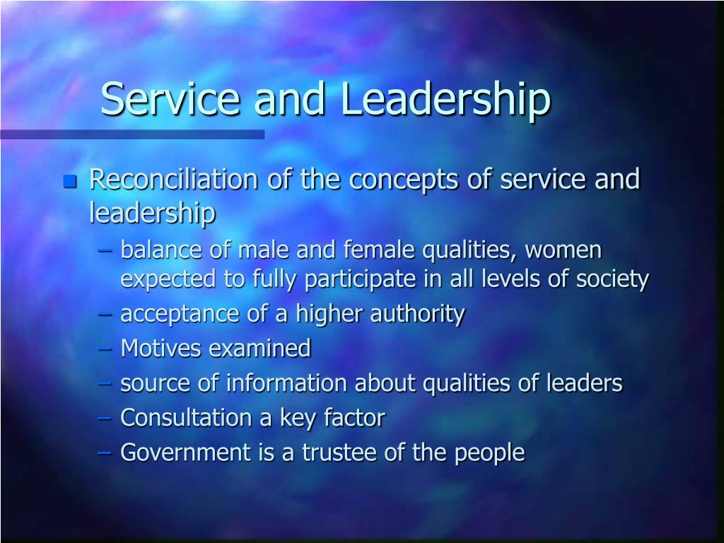 Service and Leadership
