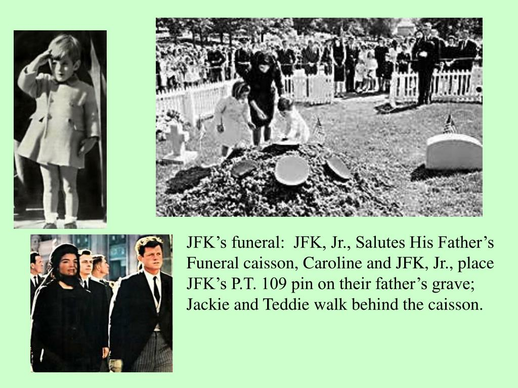 JFK's funeral:  JFK, Jr., Salutes His Father's
