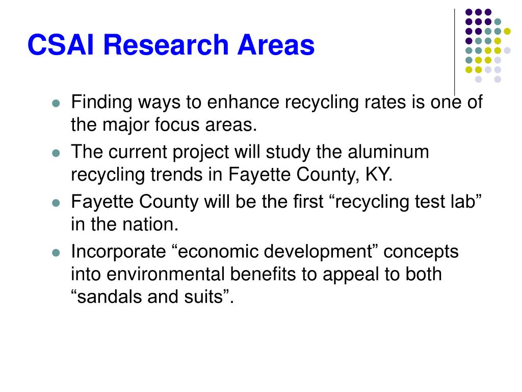 CSAI Research Areas