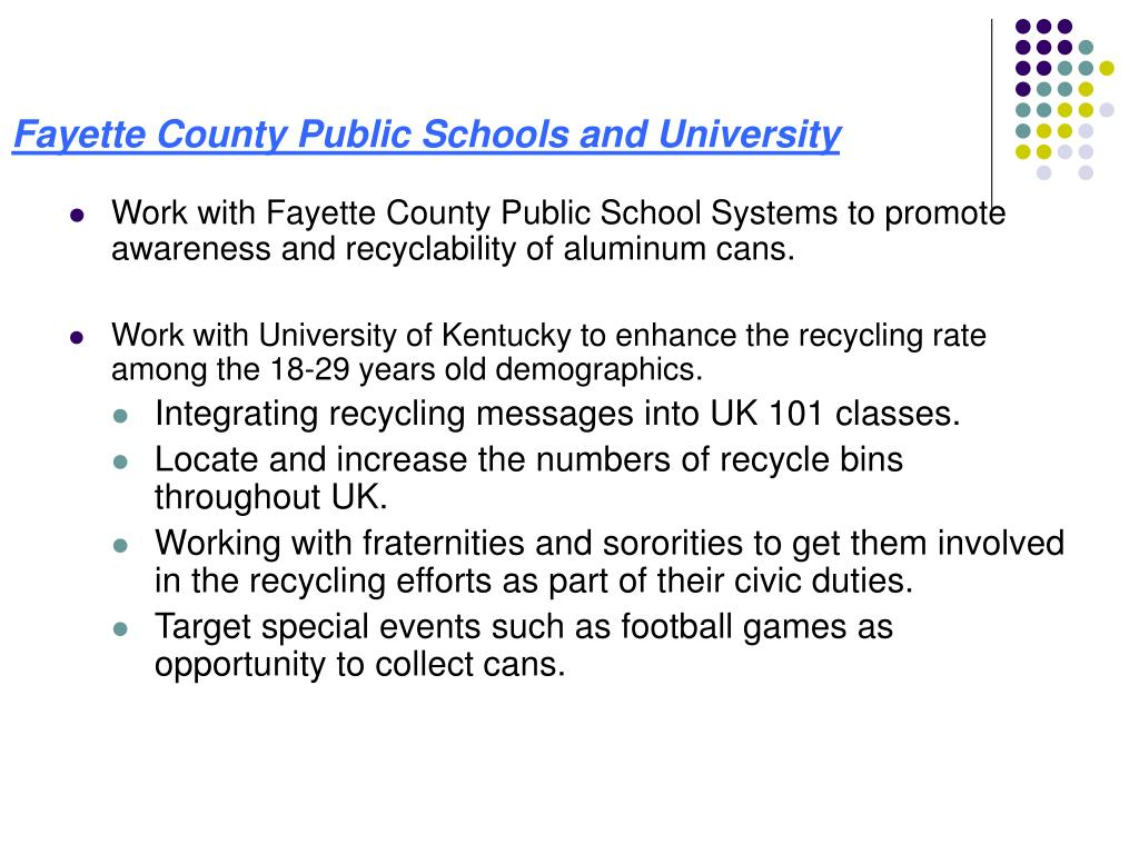 Fayette County Public Schools and University