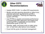 other cstc recommendations