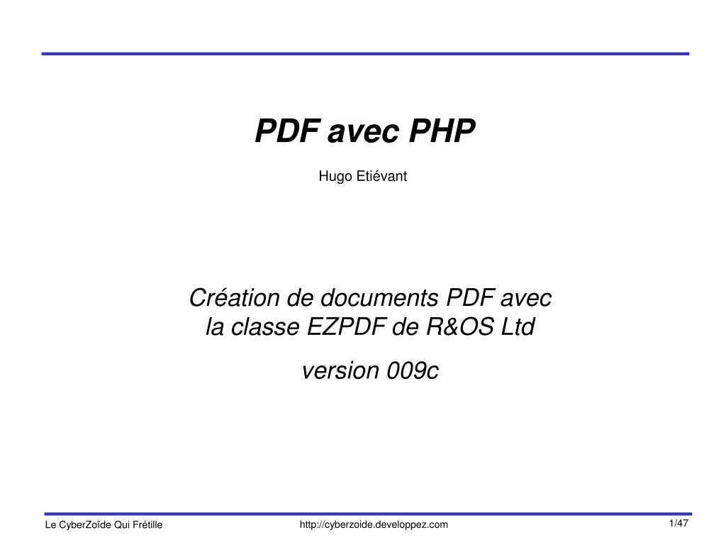 PDF avec PHP