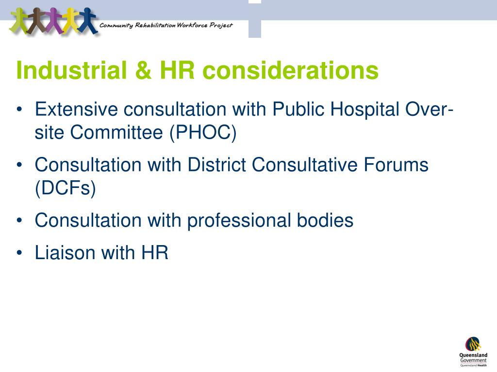 Industrial & HR considerations