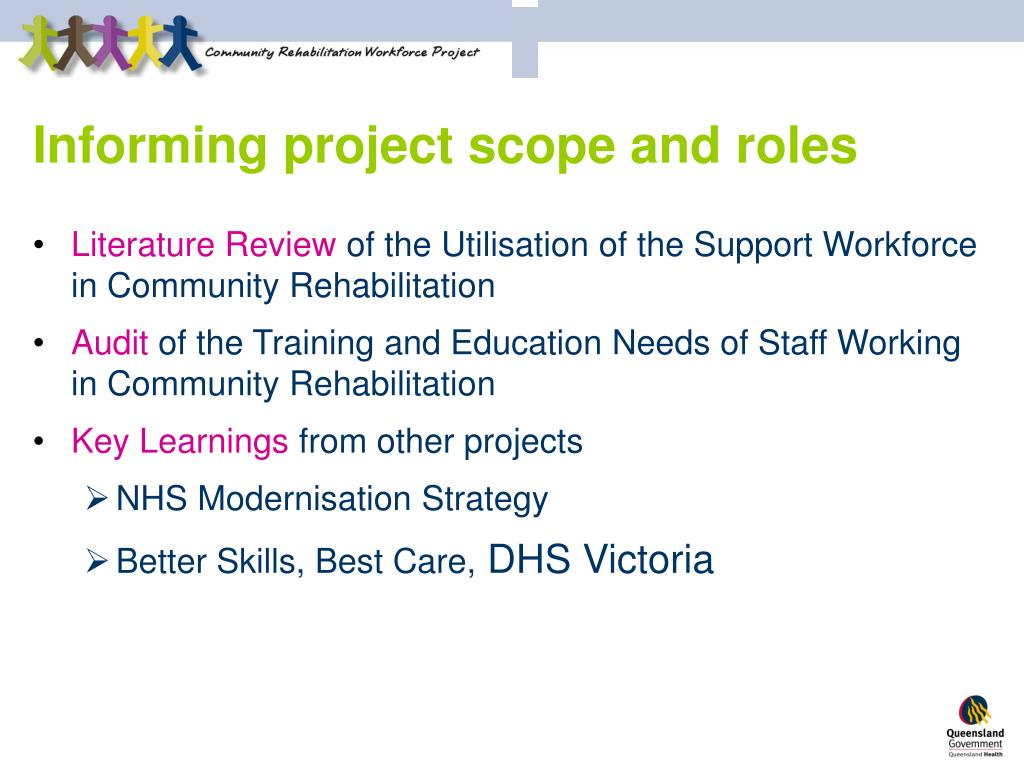 Informing project scope and roles