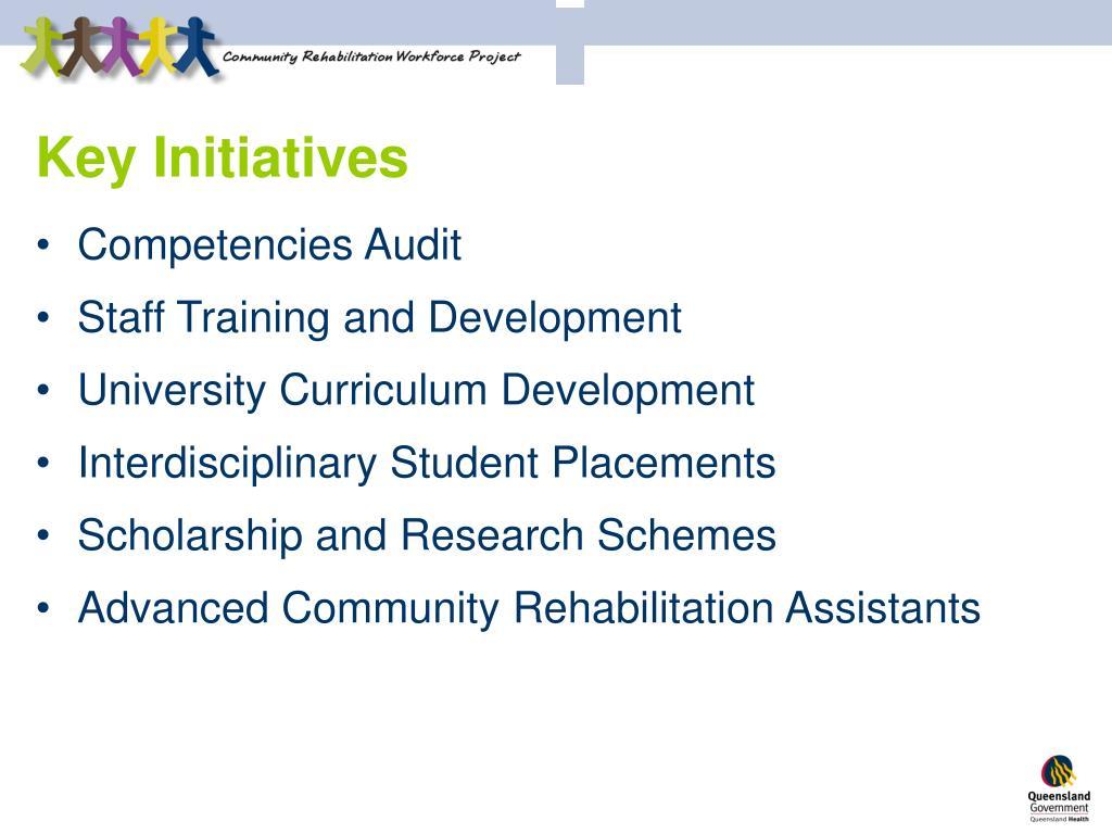 Key Initiatives