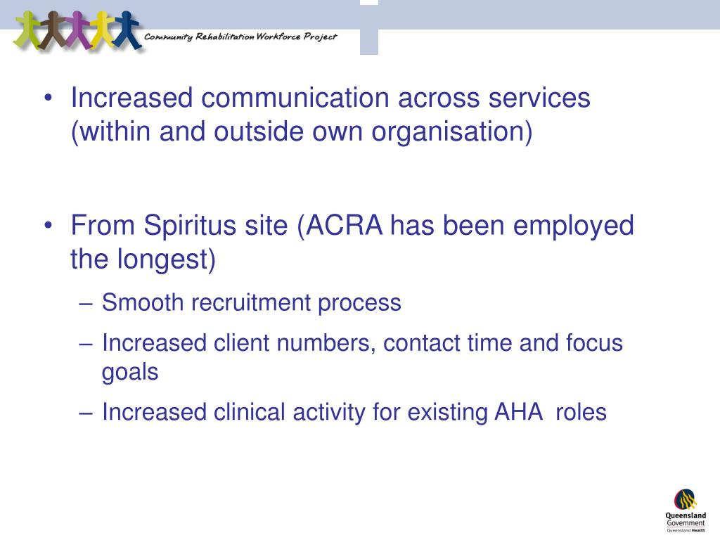Increased communication across services (within and outside own organisation)