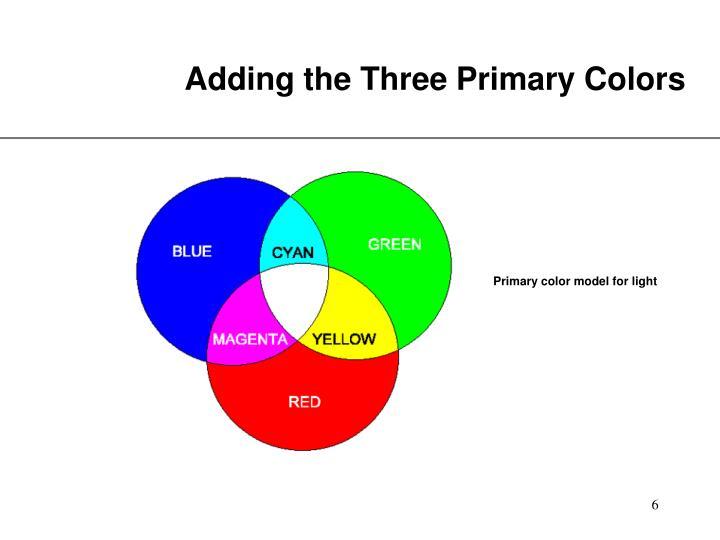 Adding the Three Primary Colors