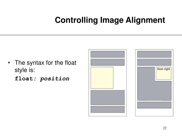 Controlling Image Alignment