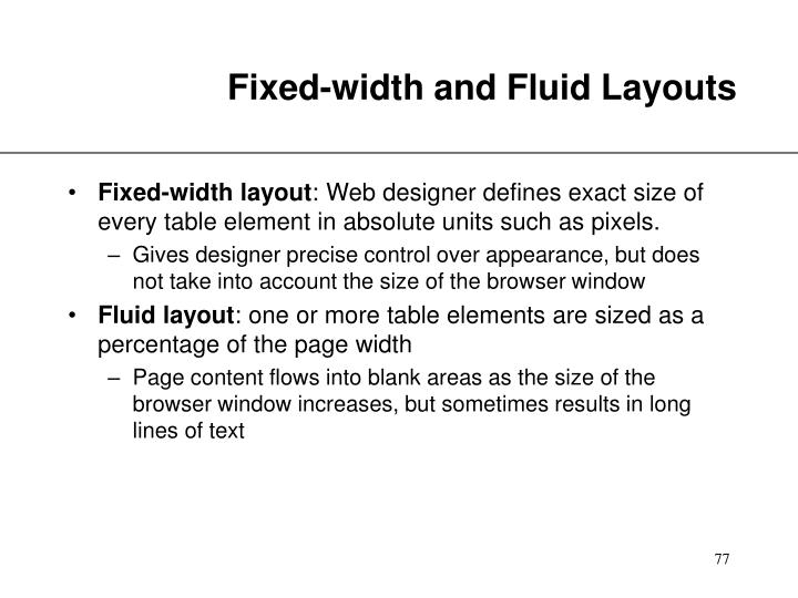 Fixed-width and Fluid Layouts
