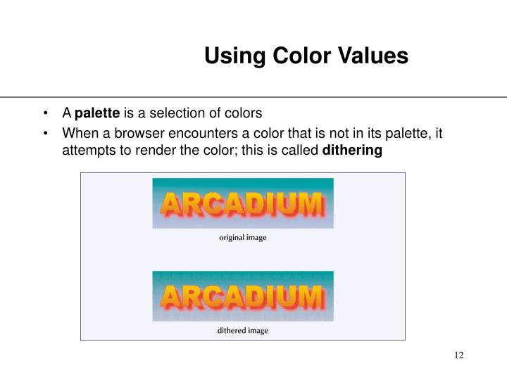 Using Color Values