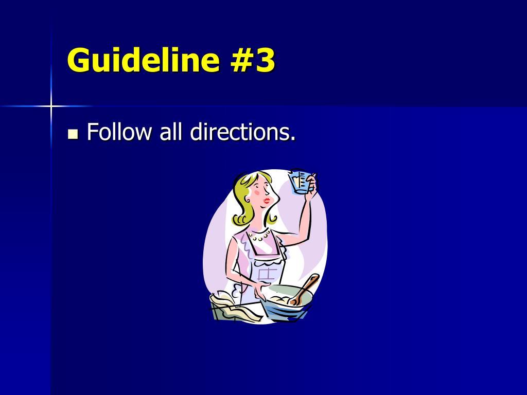 Guideline #3